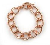 Rosé goudkleurige schakel armband.