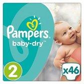 Pampers Baby Dry - Maat 2 Mini - 3-6Kg - 46 Stuks