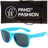 Fako Fashion® - Zonnebril - Wayfarer - Classic - Lichtblauw