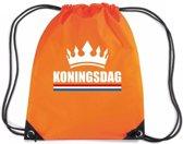Oranje nylon rijgkoord rugzak/ sporttas Koningsdag