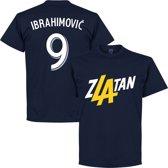 Zlatan Ibrahimovic 9 LA T-Shirt - Navy - XXL