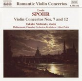Spohr: Violin Concertos nos 7 & 12 / Nishizaki, Pesek, Bratislava PCO