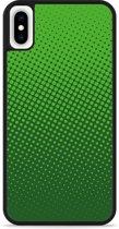 iPhone Xs Max Hardcase hoesje groene cirkels
