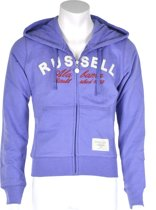 Russell Athletic Zip Trough Hooded Sweat - Sporttrui - Kinderen - Maat 128 - Paars