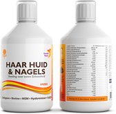 Swedish Nutra Haar Huid & Nagels - Vloeibare Multivitamine - Mineralen - Collageen - Voedingssupplement als drank