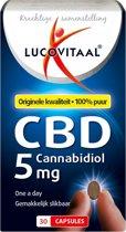 Lucovitaal - CBD 5 miligram Forte - 30 capsules - Voedingssupplement