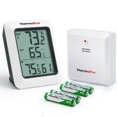 Thermo Pro TP60 - Binnen & Buitentemperatuur en vochtigheids monitor - Wit