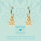 Heart to Get 925 Sterling Zilveren Goudkleurige Bohemian Star Oorbellen  - Goud