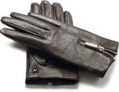 napoDONNA Echt lederen touchscreen handschoenen   Bruin   maat L