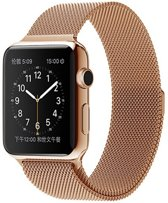 Milanese Loop Armband Voor Apple Watch Series 1/2/3 38 MM Iwatch Metalen Milanees Horloge Band - Rose Goud