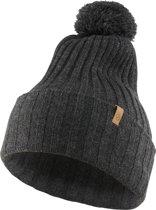 Fjallraven Byron Solid Pom Hat Muts - Dark Grey