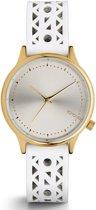 Komono Estelle Cutout White Gold horloge dames - wit - messing
