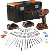 BLACK+DECKER - BDCHD181B3A-QW- KIT: 18V schroef-/klopboormachine 3 accu's