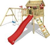 WICKEY Smart Plaza Rood - Speeltoestel met schommel