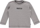 Imps&elfs Shirt Jip Stripe Print - stone grey / off white - Maat 50