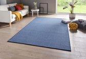 Effen vloerkleed Casual - blauw 140x200 cm