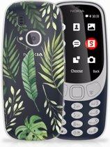 Nokia 3310 (2017) Uniek TPU Hoesje Leaves