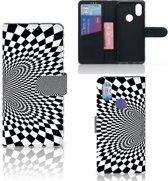 Bookcase Xiaomi Mi A2 Zwart-Wit Design Illusie
