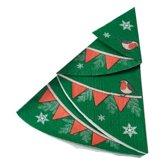 Papieren servetten - Kerstboom - Vintage Noel (12 stuks)