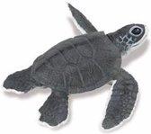 Plastic speelgoed figuur baby zeeschildpad 14 cm