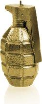 Geel goud grijs gelakte figuurkaars, design: Granaat XL Hoogte 14 cm (25 uur)
