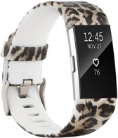HappyStrappy. Siliconen bandje - Fitbit Charge 2 - Luipaard - Small