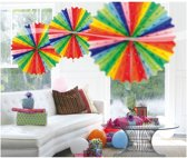 Honeycomb Fan Multicolor 45Cm