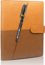 Luxe Portfolio Notitieboek / Schrift / Whiteboard Uitwisbaar,Herbruikbaar A5 Bruin