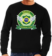 Zwart Brazil drinking team sweater heren XL