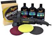 Meguiars MT310ULTKIT Professional DA Polisher Kit inclusief Pads + Producten +Tas