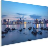 De rivier en op de achtergrond Hangzhou Plexiglas 90x60 cm - Foto print op Glas (Plexiglas wanddecoratie)