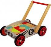 Loop/duwwagen met blokken racer-8