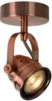 Lucide CIGAL - Plafondspot - Ø 9 cm - LED - GU10 - 1x5W 2700K - Koper