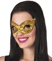 Oogmasker Sequins goud