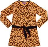 Happy Nr. 1-kleed, jurk-panterprint-kleur: geel, zwart-maat 128
