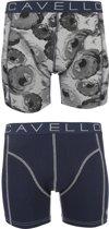 Cavello - 2-pack Boxershorts Bloem / Blauw - S
