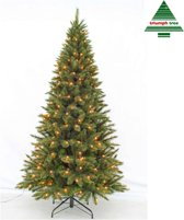 Triumph Tree smalle kunstkerstboom led forest frosted maat in cm: 185 x 102 groen 168 lampjes met warmwit led
