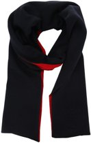 Profuomo sjaal rood/navy_ONESIZE, maat One size