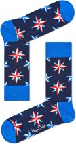 Happy Socks Nautical Star Sokken - Blauw - Maat 41-46
