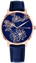 Tommy Hilfiger 1781918 Pippa horloge Vrouwen - Blauw - Leer  mm