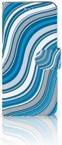 Samsung Galaxy S9 Boekhoesje Design Waves Blue