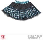 """""""Zwarte en blauwe onderrok met ruitpatroon voor vrouwen - Verkleedattribuut - One size"""""""