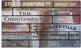 Deurmat gerecycled Scrapwood vintage 45x75cm