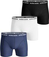 Bjorn Borg Heren Boxershorts - 3-pack - Blauw/Wit/Zwart - Maat XXL