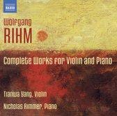 Rihm: Compl.Works For Violin