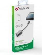 Vivanco 37478 USB Typ-A USB Typ-C Zwart kabeladapter/verloopstukje