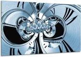 Glas schilderij Abstract   Blauw   120x70cm 1Luik   Foto print op Glas    F006416