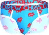 """Andrew Christian Buck Buddy Brief Blauw ondergoed maat S (29"""" t/m 30"""")"""