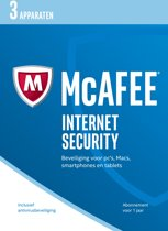 McAfee Internet Security - Nederlands - 3 Apparaten - PC / Mac / iOS / Android