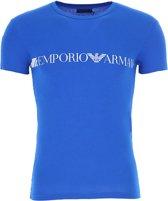 Emporio Armani - Ronde Hals T-Shirt Blauw - XL